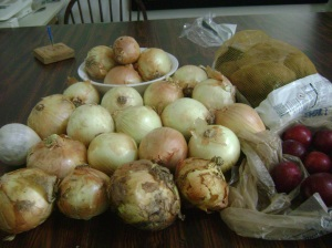 Second harvest onions