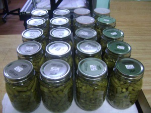 Green beans canned in 2013