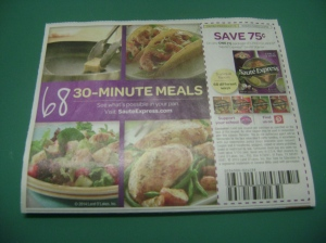 Saute Express advertising
