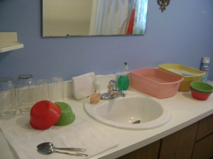 I'm glad I have enough room on the counter for washing dishes.  The sink is just too shallow.